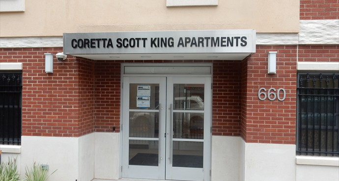 Entrance at Corretta Scott King